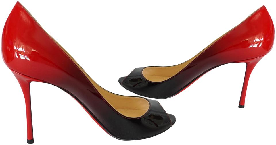 online retailer dd270 a9063 Christian Louboutin Black Red Yootish 85 Patent Leather Degrade Pumps Size  EU 41 (Approx. US 11) Regular (M, B) 39% off retail