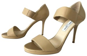 Jimmy Choo Alana Kid Leather Italy Nude Pumps