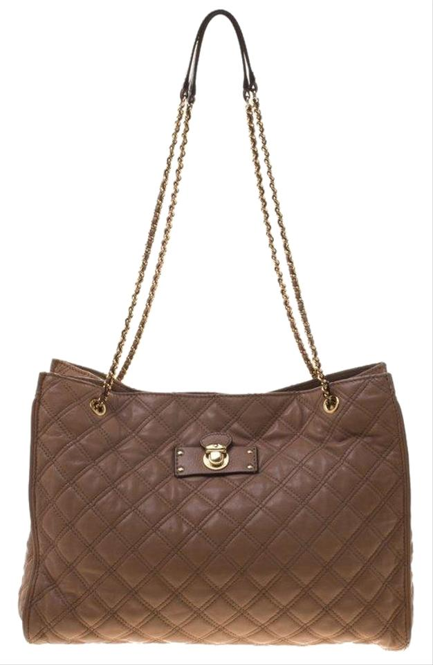 71ba9df2844b Marc Jacobs Quilted Juliette Chain Handle Beige Leather Tote - Tradesy