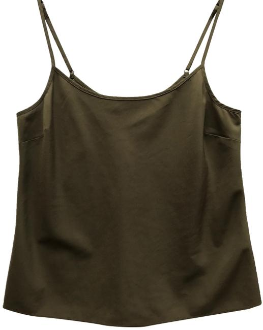 Item - Olive Green Light Silky For Summer Activewear Top Size 4 (S)