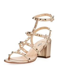 Valentino Rockstud Sold Out Caged Studded Metallic Sandals