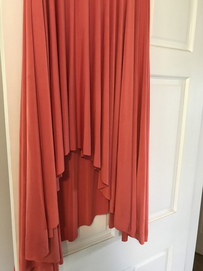 Twobirds Coral 96% Polyester 4% Spandex Two Short Butterfly Destination Bridesmaid/Mob Dress Size OS (one size) Image 3