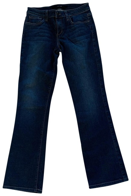 Item - Dark Blue Rinse Mid-rise Like New Boot Cut Jeans Size 4 (S, 27)