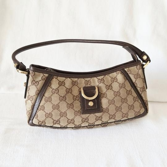 Gucci Leather Monogram Vintage Studded Italian Hobo Bag Image 1