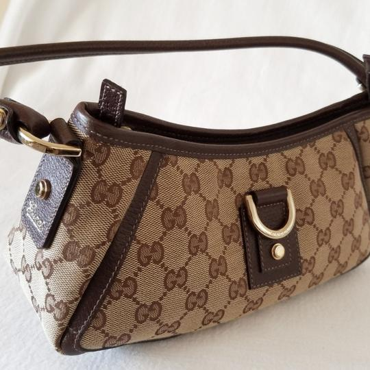 Gucci Leather Monogram Vintage Studded Italian Hobo Bag Image 2