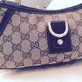 Gucci Leather Monogram Vintage Studded Italian Hobo Bag Image 6