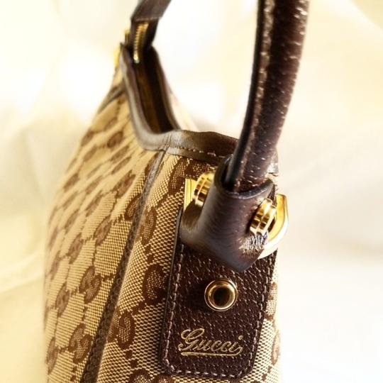 Gucci Leather Monogram Vintage Studded Italian Hobo Bag Image 7