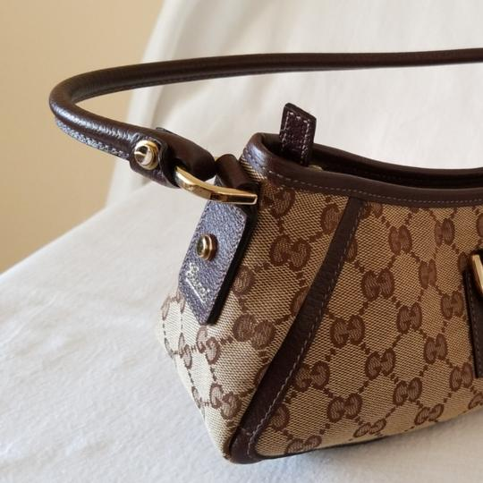 Gucci Leather Monogram Vintage Studded Italian Hobo Bag Image 8