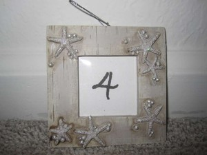 Tan/Cream Table Number Picture Frame Tableware
