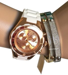 Michele $400 NWT MICHELE JELLY BEAN WHITE/ Rose-GOLD MWW12F000030