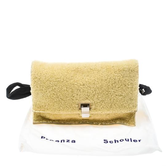 Proenza Schouler Leather Yellow Clutch Image 11