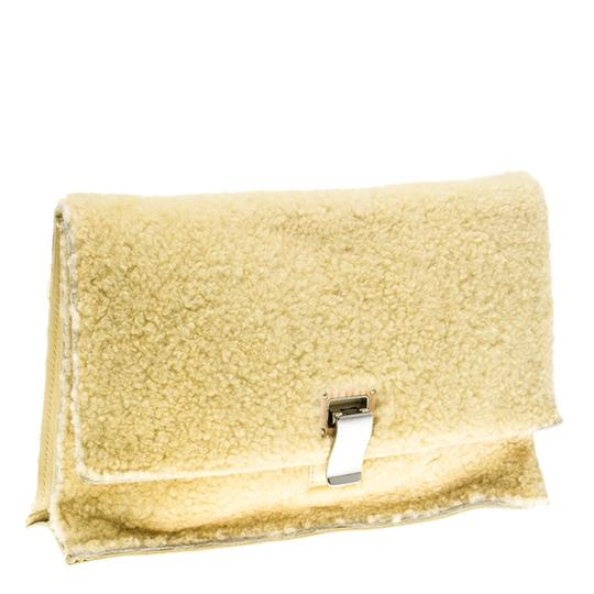 Proenza Schouler Leather Yellow Clutch Image 3