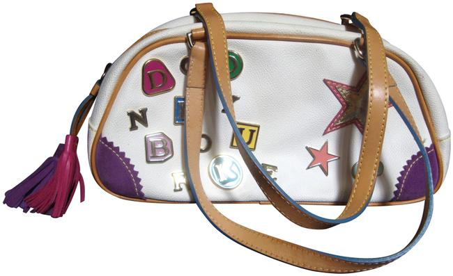 Item - Rainbow Alphabet Purse Multi-color Leather Shoulder Bag