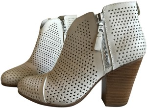 Rag & Bone Leather Perforated Creme or Off-white Boots