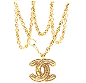 206e269cea12 Chanel Rare XXL Extra huge Large CC Timeless Quilted Long gold chain  necklace
