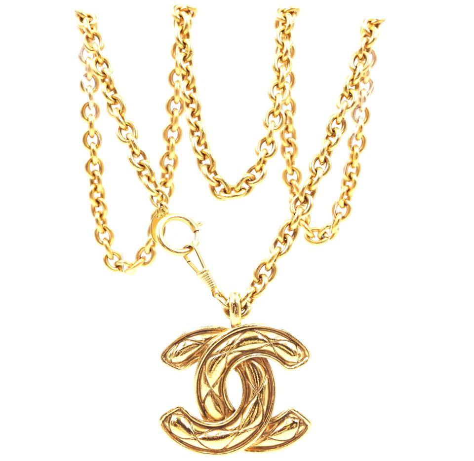 53aa9c92424 Chanel #29030 Gold Rare Xxl Extra Huge Large Cc Timeless Quilted Long Chain  Necklace