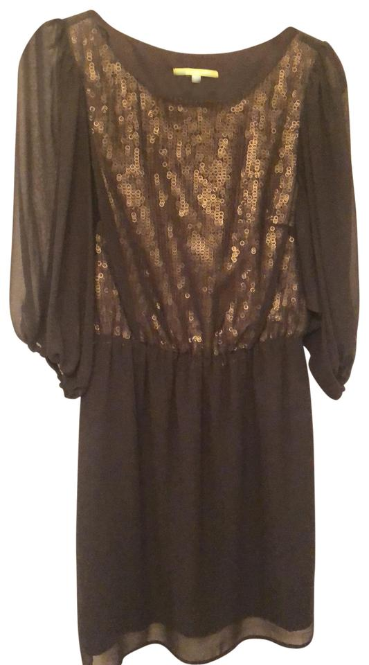 56a2a9c05c9 Gianni Bini Black Gold Short Cocktail Dress Size 6 (S) - Tradesy