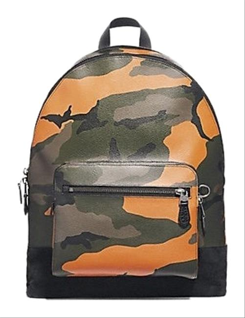 Item - West Camo Tangerine Coated Canvas Backpack
