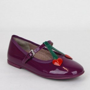 Gucci Purple Girl Toddler Patent Leather Ballet Flats 25/Us 9 433117 5281 Shoes