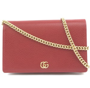 6794d6dacd9 Gucci Chain Wallet Marmont Petite Mini Blue Leather Clutch - Tradesy