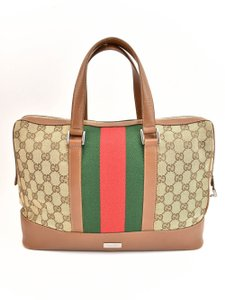 Gucci Gg Web Stripe Supreme Logo Tote in Limited Edition - item med img