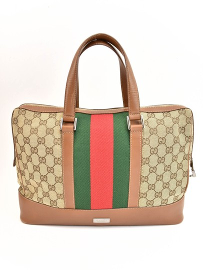 Preload https://img-static.tradesy.com/item/25259489/gucci-brown-limited-edition-leather-gg-logo-and-web-stripe-medium-qr-tote-0-0-540-540.jpg