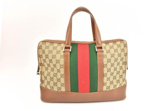 Gucci Gg Web Stripe Supreme Logo Tote in Limited Edition Image 3