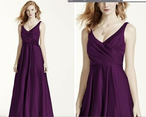 cb7cae89a9e David s Bridal Plum Satin Tank Ball Gown In F15741 Traditional Bridesmaid Mob  Dress Size 6