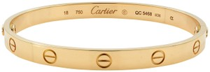 Cartier Love Size 18 Bangle Bracelet Gold