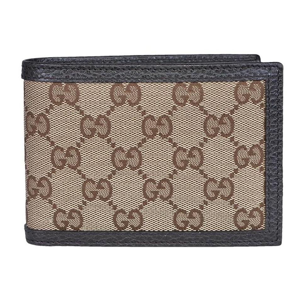 d5462626c7b8 Gucci GG Original Canvas Leather Bifold Wallet (short/small size) Image 0  ...