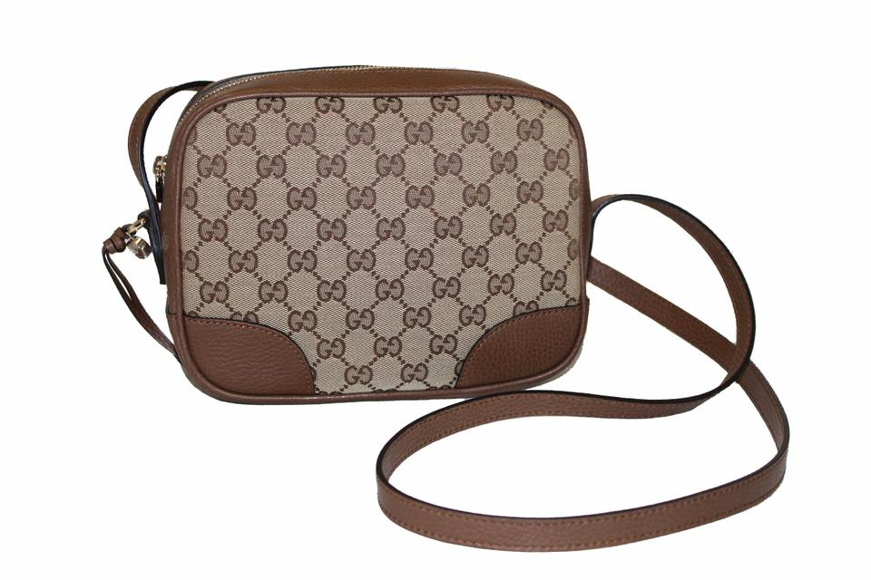 2dec3dc41 Gucci Bree Disco New Gg Canvas Brown Fabric Cross Body Bag - Tradesy