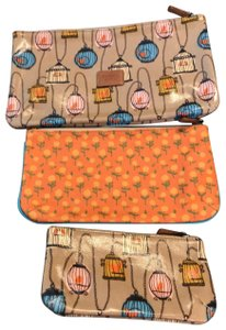 Fossil Orange and Tan Clutch