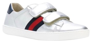 Gucci White Ace Ace Sneaker Sneaker silver Athletic