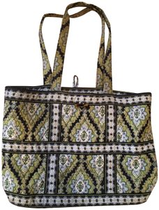 Vera Bradley Tote in Greens and Blues