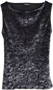 Eyeshadow Velvet Mesh Sleeveless Top Multicolor