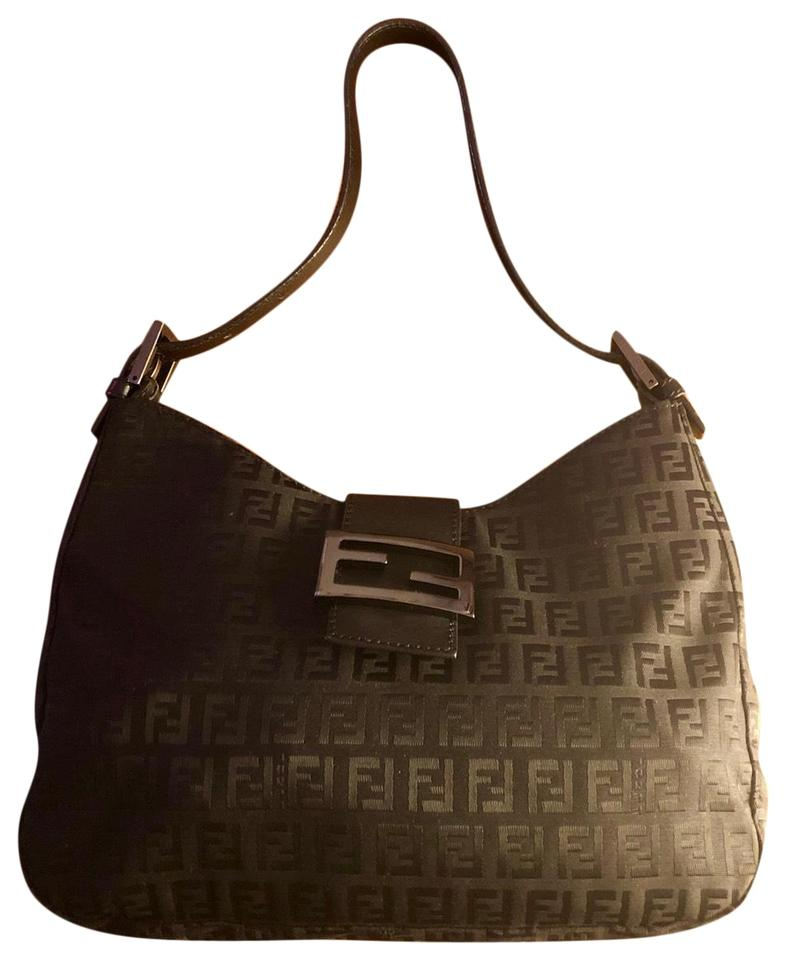 e64ab48c52f7 Fendi Zucca Black Canvas Hobo Bag - Tradesy