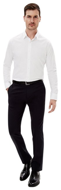 Item - White Men's Long-sleeve Button .17.5r Slim Fit. Button-down Top Size OS (one size)