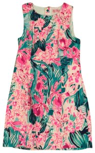 Lilly Pulitzer short dress Pink/ Green on Tradesy