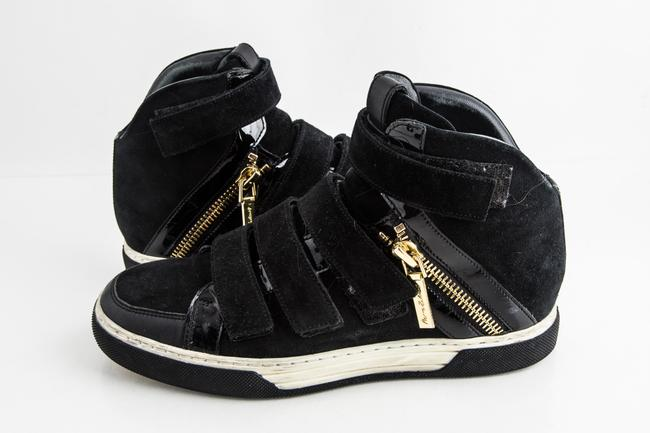 Item - Black Velcro and Zipper High Top Sneaker Shoes