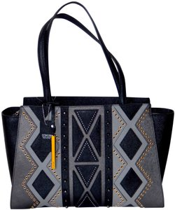 Cromia Studded Leather Made In Italy Shoulder Bag
