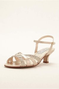 Touch Ups Champagne Jane Bridal Formal New Sandals Size US 7.5 Regular (M, B)