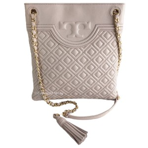 a3c108612dcb Tory Burch Leather Braided Strap Quilted Diamond Quilt Tassel Cross Body Bag