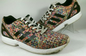 bce8b4d374108 adidas Multi Color Prism Motif Torsion Zx Flux Men s Rainbow M19845 11.5  Shoes