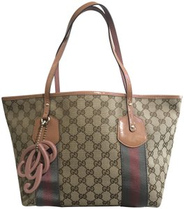 b4b9eb0f1f5 Gucci Limited Edition Vintage Canvas Tote in Brown   Pink