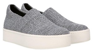 Vince Sneakers Platform Slip On Stretch-knit Grey Marl Knit Fabric Athletic