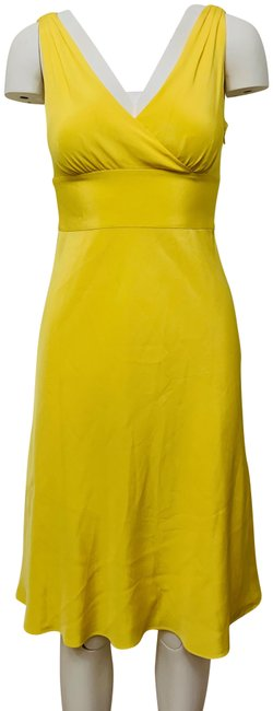 Item - Yellow Sophia Silk Chiffon Mid-length Formal Dress Size Petite 4 (S)