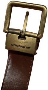 Burberry Authentic Burberry Classic Leather Belt with Gold Hardware size small