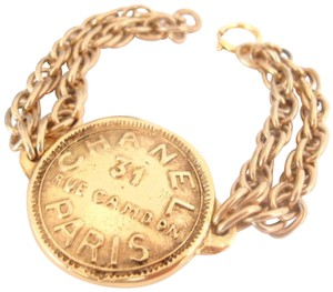 Chanel Chanel Vintage 31 rue cambon large size coin Chain Bracelet