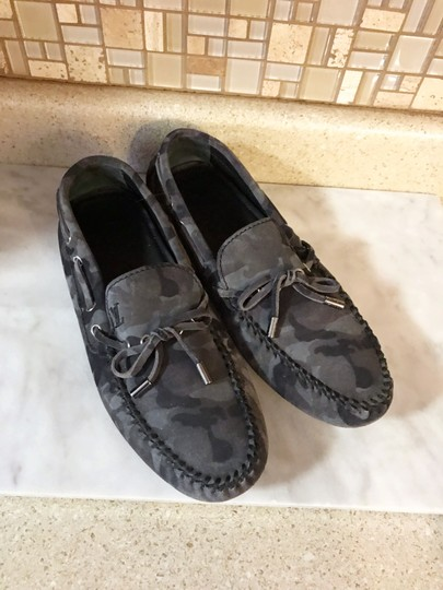 Louis Vuitton Camo Moccasins Slippers Loafers Grey Mules Image 2