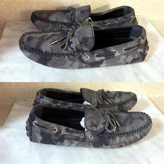Louis Vuitton Camo Moccasins Slippers Loafers Grey Mules Image 3